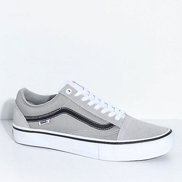 1a3a1c7f54ee76 Vans Old Skool Pro Drizzle Grey Skate Shoes Men s.  M 5b92bc83035cf1609c6ccc71